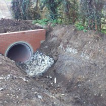 Ferry Hinksey ditch, new culvert