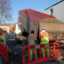 Work starts Earl Street road hump