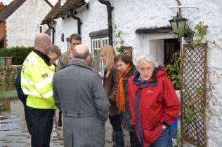 Floods Nov 2012: Nicola Blackwood MP, third from right, in S Hinksey